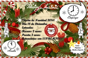 Cartel de la fiesta de Navidad 2014